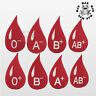 Blood Group Name Blood Drop Patch Iron On Patch Sew On Embroidered Patch