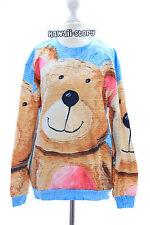 T-525 Teddy Bär Bear Sweet Cute Pastel Goth Lolita Pullover Sweatshirt Harajuku