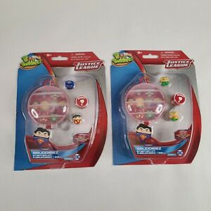 Bbuddieez DC Justice League Storage Ball Kit W/3 Collectibles Lot of 2 Flash