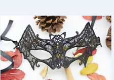 LACE BAT MASK MASQUERADE BALL HALLOWEEN PARTY GOTHIC FANCY DRESS ACCESSORY