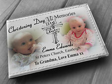 Personalised photo album 6x4, photo book, baby christening baptism present.