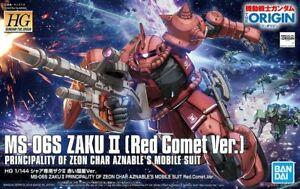 Bandai HG Gundam The Origin MS-06S Zaku II Red Comet Ver. #024 Gundam Model Kits