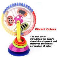 Baby Kid Child Sassy Rainbow Observe Ferris Wheel Rattle High Chair Suction-ToyO