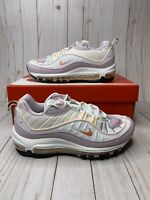 Nike Air Max 98 White Atomic Pink Crimson Tint Womens Size 10 New CI3709-102