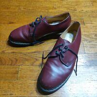 VINTAGE DR DOC MARTENS Shoes ENGLAND 1461 Oxblood 3-eye UK sz 7 Leather 70s/80s?