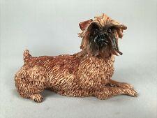 *Scarce* Eve Pearce, England, Porcelain Brussels Griffon Dog Figurine, Brown