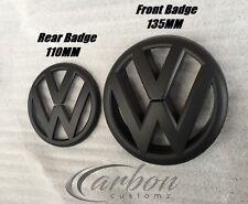 VW Golf MK6 09-12 Matte/Matt Black Front & Rear Boot Badge Emblems - UK SELLER -