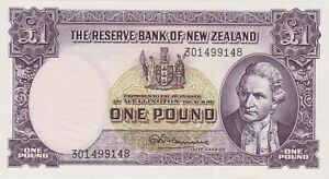 P159d NEW ZEALAND ONE POUND BANKNOTE MINT CONDITION ISSUED BETWEEN 1960 TO 1967