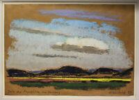 """Eisenfeld, Ulrich - Pastell """"Landschaft Zeit der Rapsblüte im Vorharz"""" 1999 sf"""