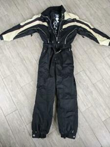 vintage DESCENTE black SKI snow suit  womens 14 XL snowboard 1Pc