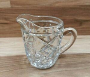Small Vintage Pressed Glass Creamer / Milk Jug