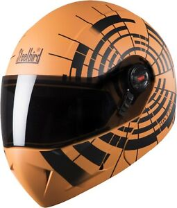 Steelbird SB-41 Oscar Matrix Orange With Black Colour Helmet
