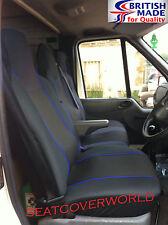MERCEDES VITO  - BLACK/BLUE TRIM VAN SEAT COVERS - SINGLE + DOUBLE