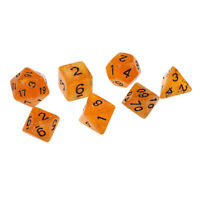 7x Acrylic Multi-sided Dice Die Set for DND RPG Board Game Casino Supply #3