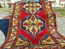 Beautiful cr1930-1945s Antique Multi-Colored, Wool Pile Dowry Rug Turkey