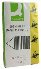 Q-Connect Quick Signature Markers 20 x 50 mm Yellow