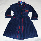Adelaide Crows AFL Boys Navy Red Embroidered Fleece Dressing Gown Size 16 New