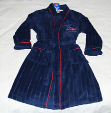 Adelaide Crows AFL Boys Navy Red Embroidered Fleece Dressing Gown Size 8 New
