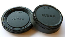 Camera Body Cover + Lens Rear Cap For Nikon D700 D3 D200 D80 D60 D90 D UK STOCK