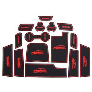 Non-Slip Interior Rubber Door Panel Mats Cup Holder Pad For Chevrolet equinox