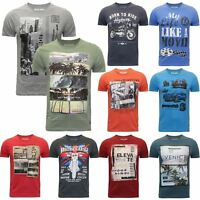 MENS PRINTED T-SHIRT NEW YORK DOWNTOWN BORN RIDE BRITISH GARAGE VENICE VINTAGE