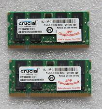 8GB 2x 4GB Speicher Laptop Notebook RAM DDR2 667Mhz So-Dimm PC2-5300S 200Pin CL5