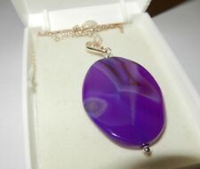 Purple Sardonyx Pendant -  on a Gold Filled Chain - Entrancing Gem