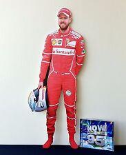 Sebastian Vettel Display Stand NEW 2017 Standee Ferrari Formula 1 F1 Car GP