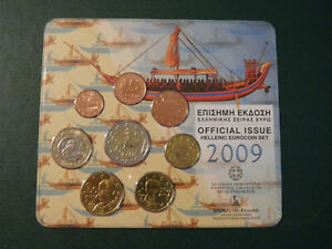 Greece Set Coins 2009 BU !!!!!!