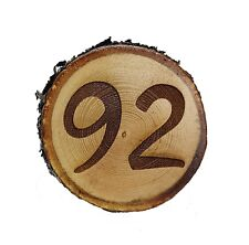 HOUSE NUMBER ON SOLID WOOD SLICE ENGRAVED PERFECT GIFT NEW HOME
