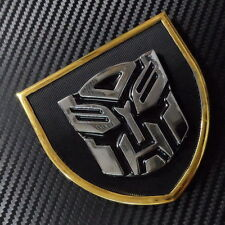 Car  Transformers Autobot Front Grille Fender Metal Emblem Silver w/ Black