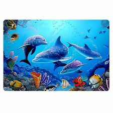 Ocean Style Doormat Home Room Entrance Mat Blue Bathroom Anti-Slip Thin Carpet