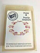 Bead Bracelet Kit ~ Pink & Pearls ~ Second Story Beadworks ~ Nos