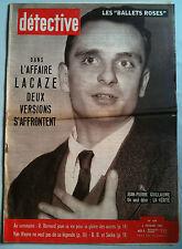DETECTIVE 6/2/1959 Brigitte Bardot et Sacha/la légende Van Wayne/Affaire Lacaze