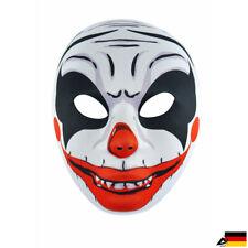 Gruselige Clown Maske Cosplay Horror Joker Halloween Fasching Mask Kostüm Zombie