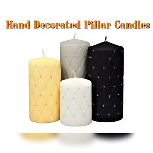 Handmade Pillar Candle ! Wedding Gift ! Glitter Decorated