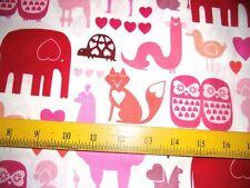 SALE A Henry Fabrics I Love Animals Children Pnk Lavender Purple 4 Quilt Pillows
