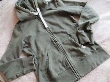 Kapuzen Damen Basic Uni Sweat-Shirt Marke Trendy Grün Gr.36