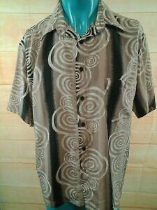 PORTOBELLO Mens Vintage Shirt Abstract Pattern European Fabric SIZE XL