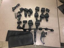 Various Sennheiser Microphone Clips and Mic arm Stand for 6 mics 2 Shure Stands