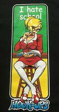Vin 90's Hook-Ups Skateboard Anime Teacher t shirt VG/EXC XL Jeremy Klein Skater