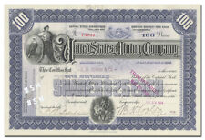 United States Mining Company Stock Certificate