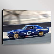 "Vintage Penske Camaro Trans-Am Racecar Photo Art Canvas Print 20""x30"""