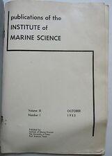 New listing 1953 U Texas Institute Marine Science Fish Bonnet Carre Shrimp Zoogeography Gulf