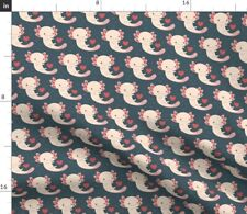 Axolotl Amphibian Bubbles Salamander Fabric Printed by Spoonflower Bty