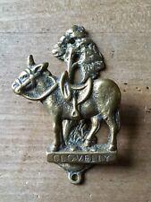 Vintage Brass Door Knocker Clovelly Donkey Animal Mule Small Antique