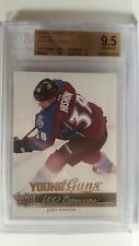 2014-15 Upper Deck Joey Hishon Young Guns Canvas RC BGS 9.5 w/ 10 Surface