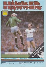 WEST HAM FOOTBALL PROGRAMMES 1984-85 ~ YOU CHOOSE OPPONENTS EXCELLENT CONDITION