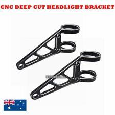 Black CNC aluminum 43mm headlight bracket cafe racer bobber streetfighter custom