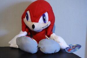 Sonic X Hedgehog KNUCKLES Plush Rare GE Sonic Project Toy Doll Viz Media